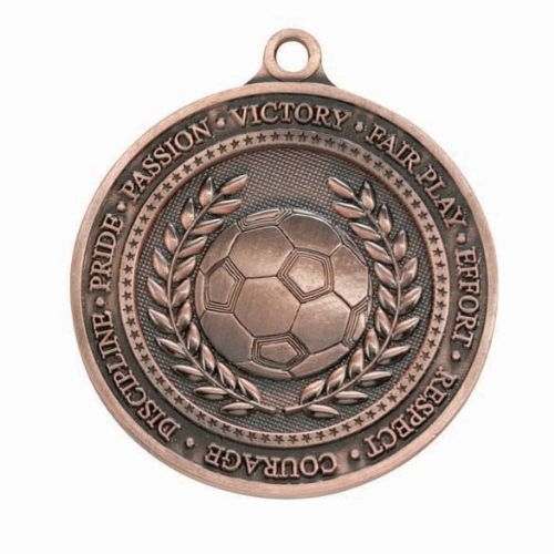 Olympia Football Medal Antique Bronze 60mm